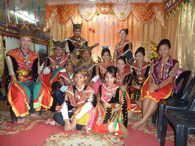 Dusun wedding party - Sabah
